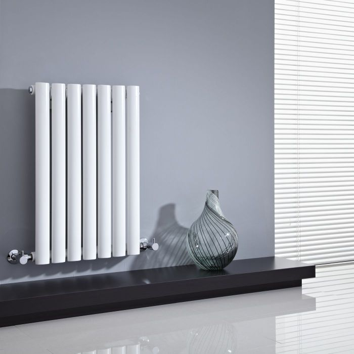 "Revive - White Horizontal Single-Panel Designer Radiator - 25"" x 16.25"""