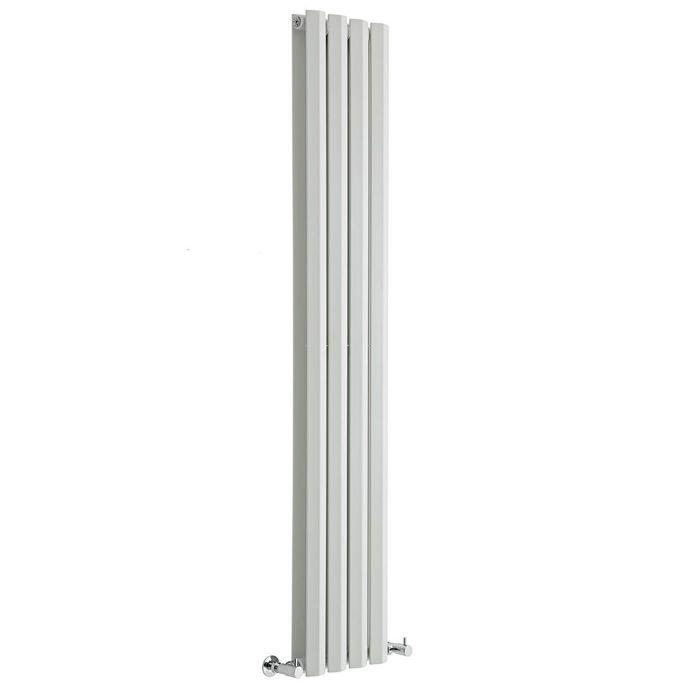 "Edifice - White Vertical Double-Panel Designer Radiator - 63"" x 11"""