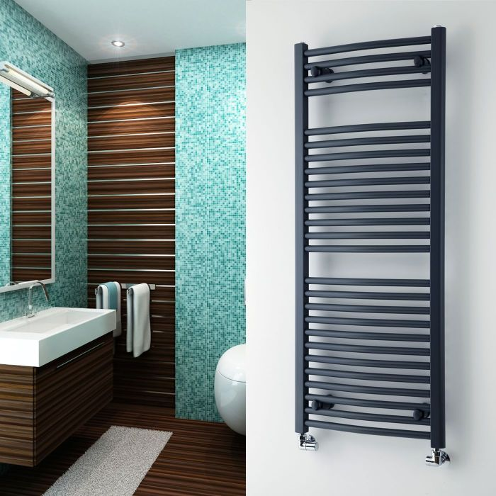 """Loa - Hydronic Anthracite Heated Towel Warmer - 47.25"""" x 19.75"""""""