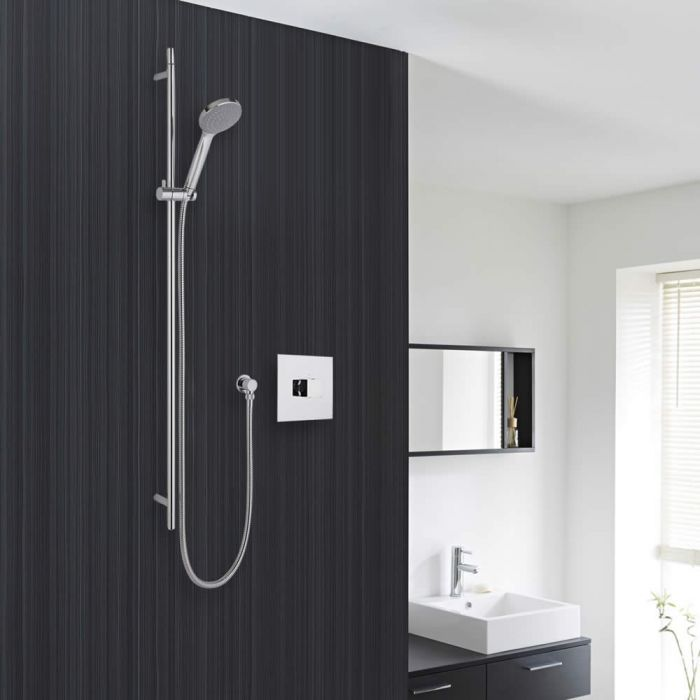 Shower System with Sequential Valve and Chrome Multi-Function Handshower
