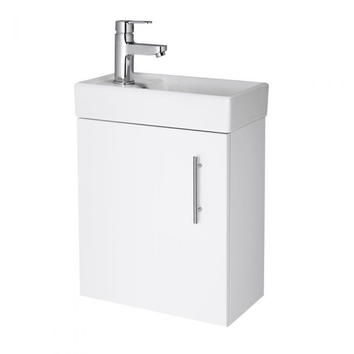 """White Small Wall Mount Vanity Vessel Sink 16"""""""