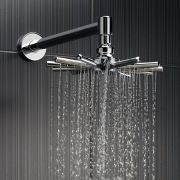 Cloudburst Fixed Head with Wall Mounted Arm