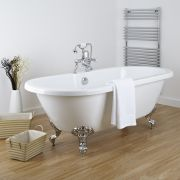 Acrylic Double Ended Freestanding Flat Top Bath Tub 70""