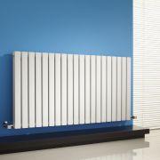 "Sloane - White Horizontal Double Flat-Panel Designer Radiator - 25"" x 46.5"""