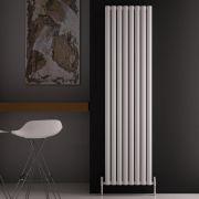 "Revive Air - White Aluminum Vertical Double-Panel Designer Radiator - 70.75"" x 18.5"""