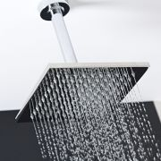 """One Function 8"""" Square Ceiling Mounted Shower Head Stainless Steel"""