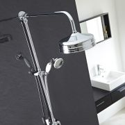 Victorian Grand Rigid Riser Twin Kit Shower with Over Head and Hand Held Showers