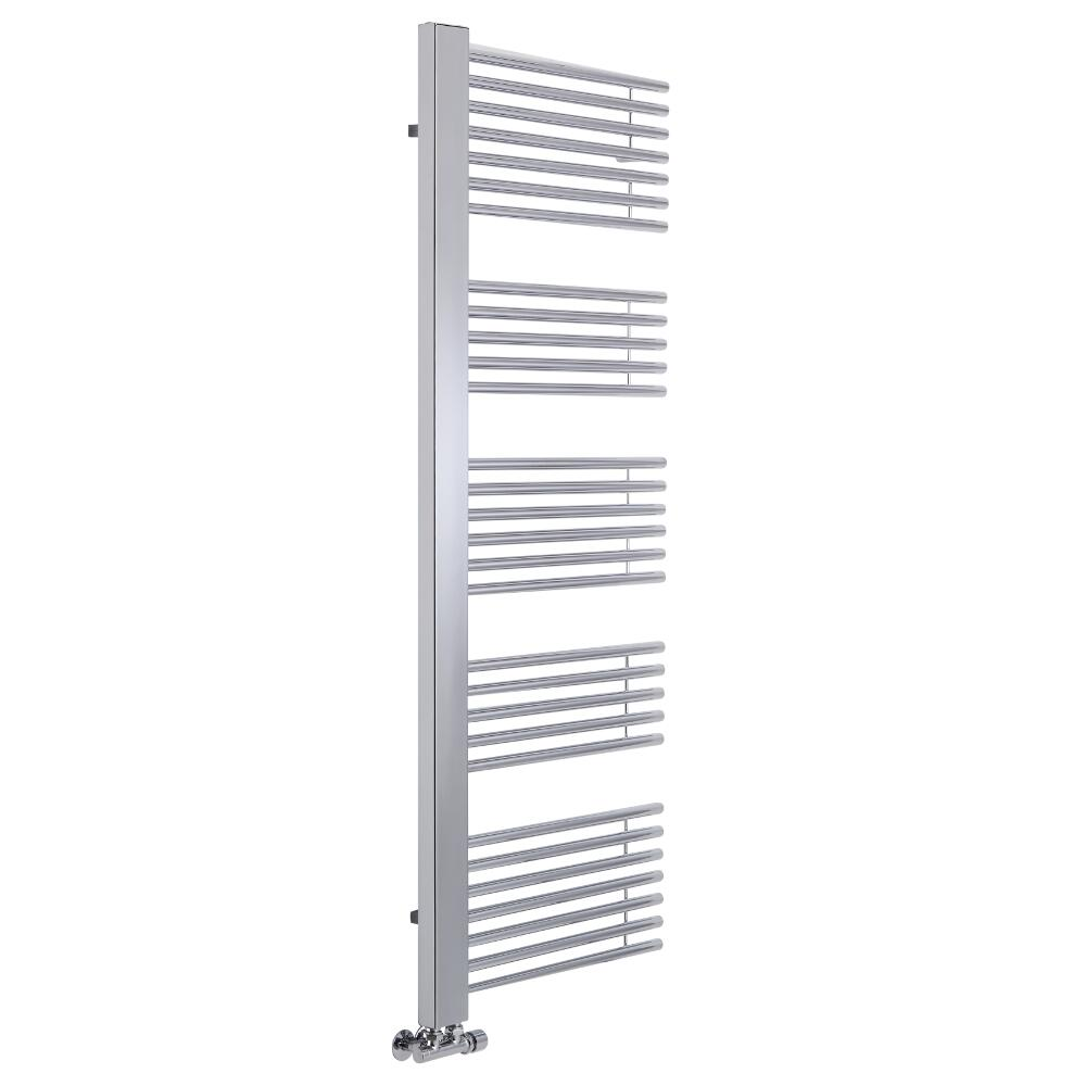 "Bosa - Chrome Hydronic Designer Towel Warmer - 63"" x 23.5"""
