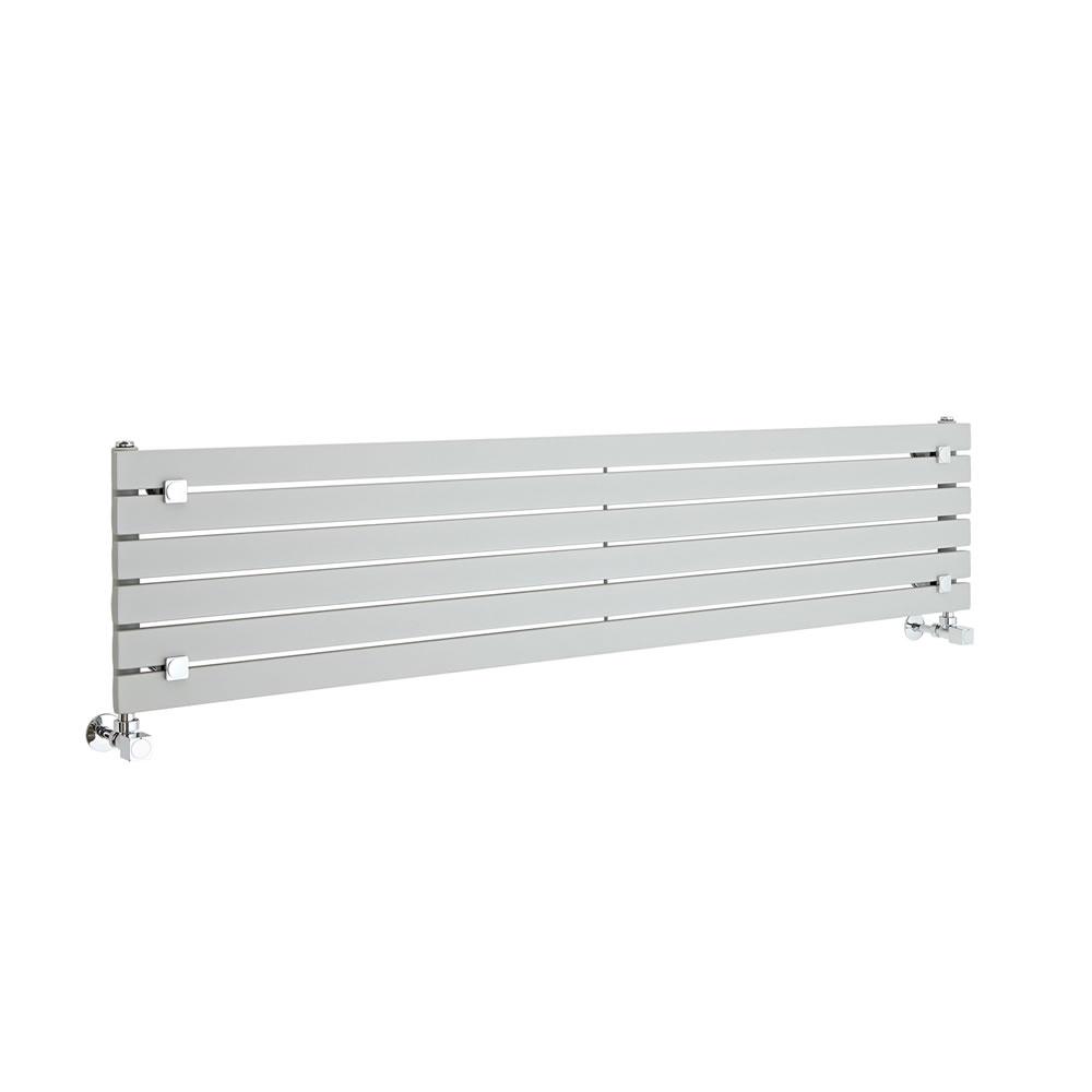 """Sloane - Silver Horizontal Single Flat-Panel Designer Radiator - 14"""" x 63"""""""