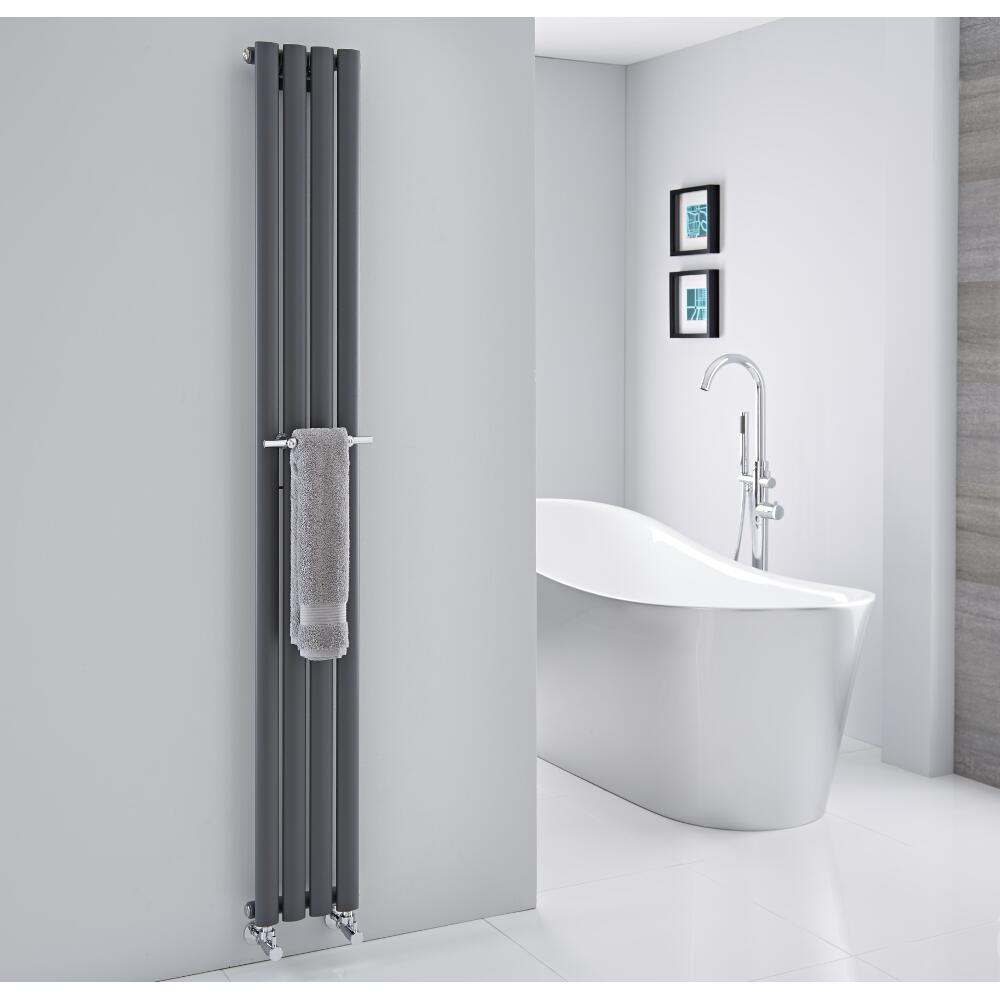 Hudson Reed - Chrome Towel Rail for Revive Vertical Designer Radiators - 9""
