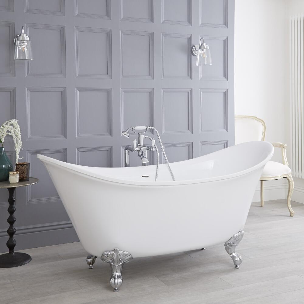 Acrylic Double Ended Freestanding Bath Tub 70""