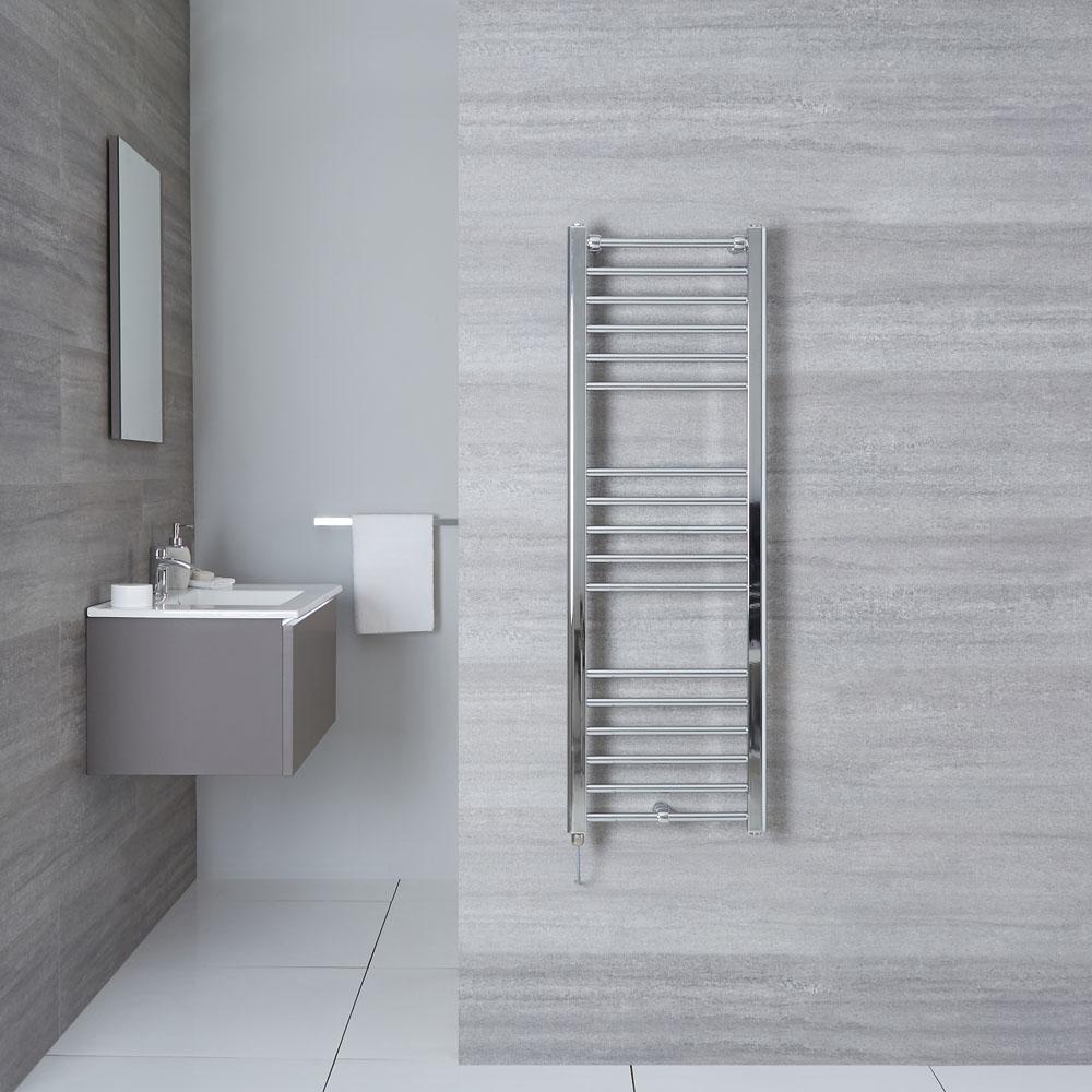 "Eco Electric - Chrome Heated Towel Warmer - 47.25"" x 15.75"""