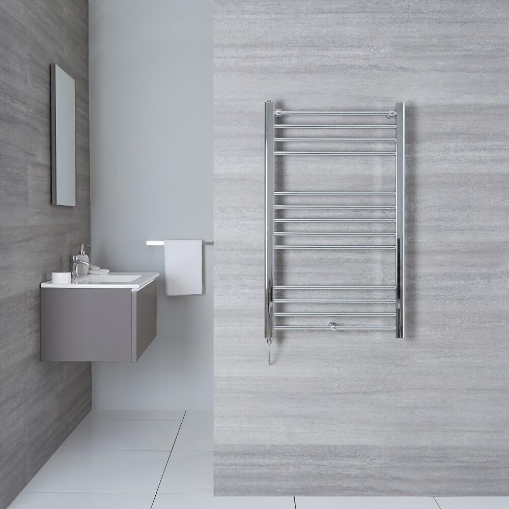 "Eco Electric - Chrome Heated Towel Warmer - 39.5"" x 19.75"""