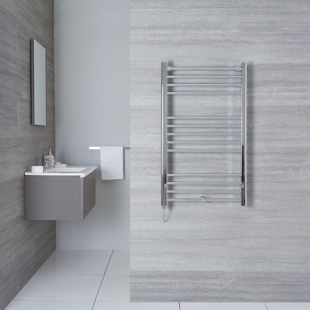 "Eco Electric - Chrome Heated Towel Warmer - 39.5"" x 23.75"""