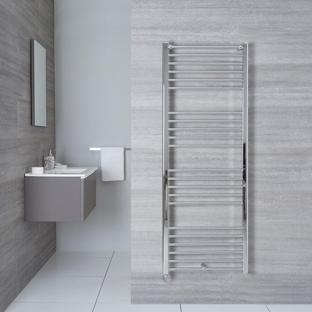 "Eco Electric - Chrome Heated Towel Warmer - 63"" x 23.75"""
