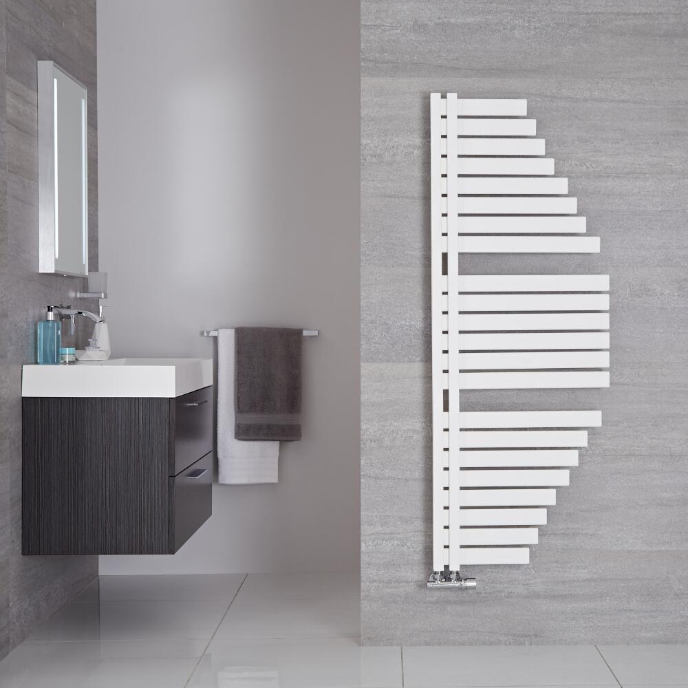 """Lazio - Mineral White Hydronic Designer Towel Warmer - 57.5"""" x 21.5"""""""