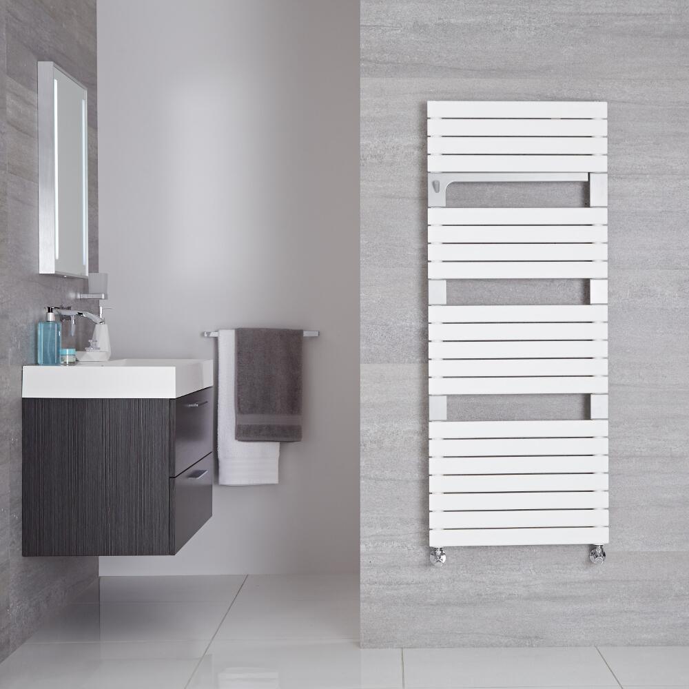 "Seina - Mineral White Hydronic Designer Towel Warmer - 53.5"" x 21.75"""