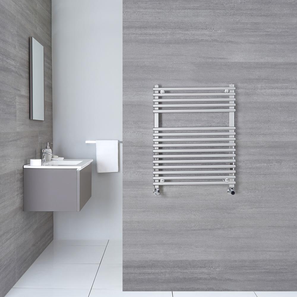 "Ischia - Hydronic Chrome Heated Towel Warmer - 29.5"" x 23.5"""