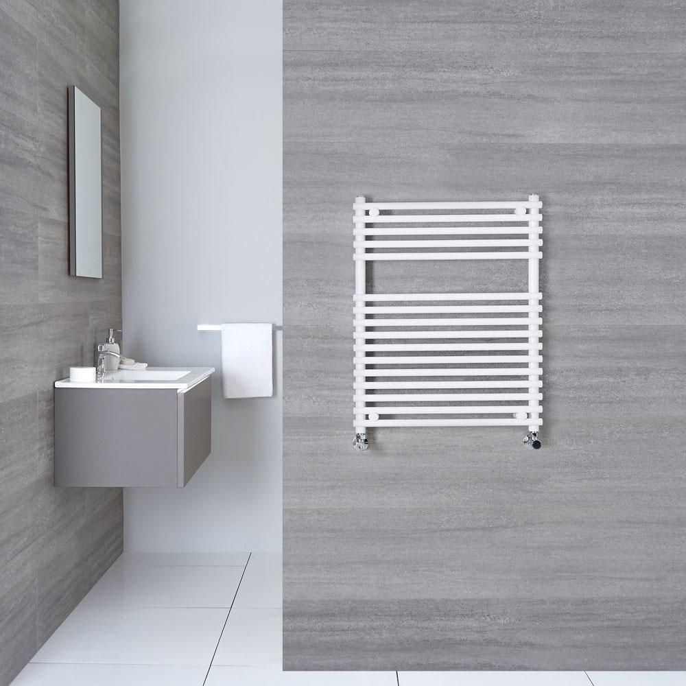 "Ischia - Hydronic White Heated Towel Warmer - 29.5"" x 23.5"""