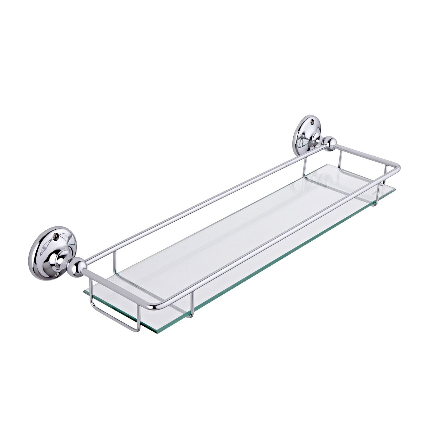 Glass Gallery Shelf, Chrome Finish