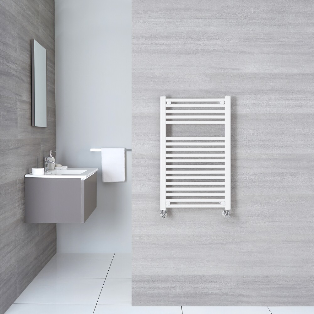 "Etna - Hydronic White Flat Heated Towel Warmer - 31.5"" x 23.5"""