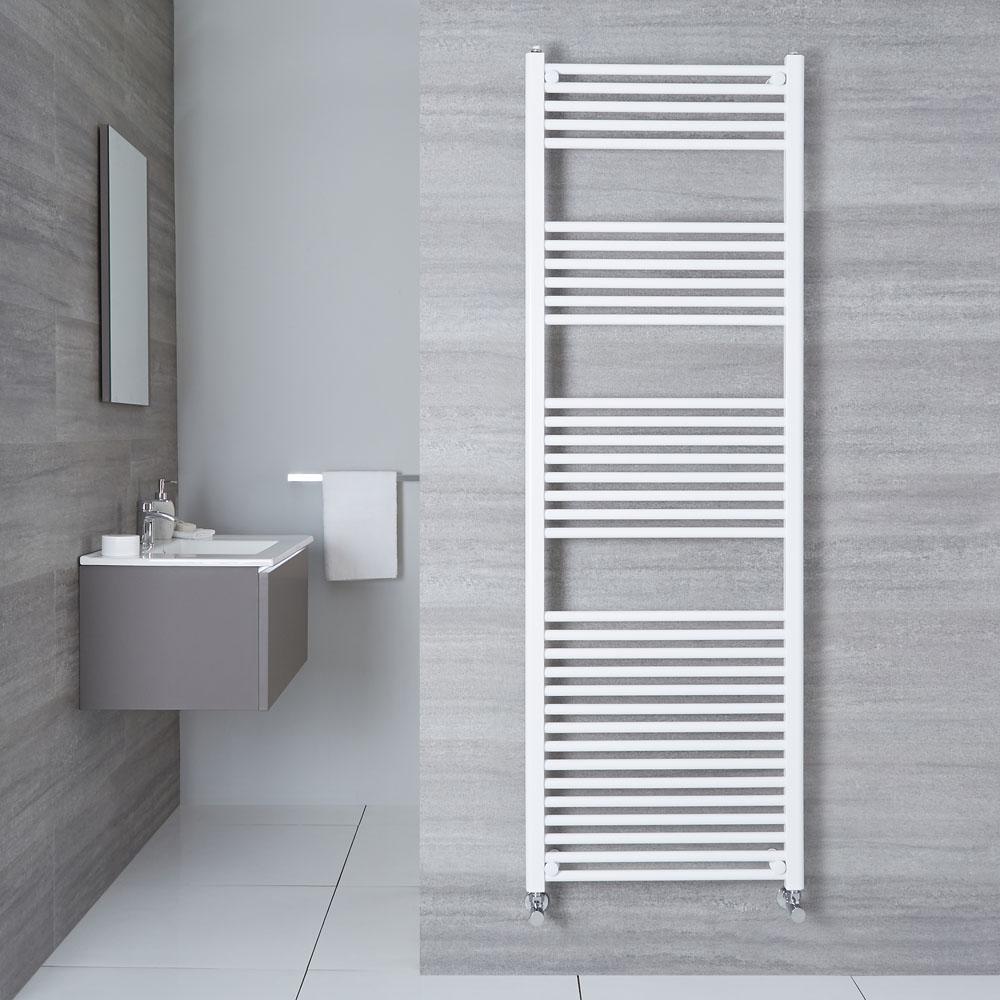 "Etna - Hydronic White Flat Heated Towel Warmer - 70.75"" x 23.5"""