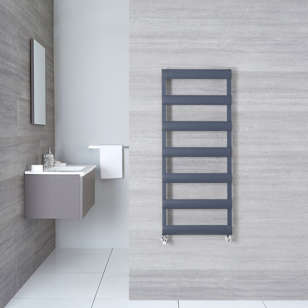 "Gradus  - Anthracite Hydronic Towel Warmer - 46.75"" x 19.75"""