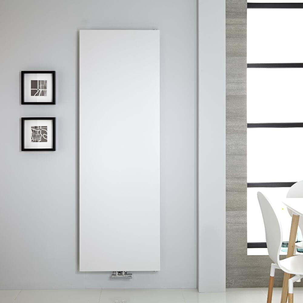 "Rubi - White Vertical Flat-Panel Designer Radiator - 70.75"" x 23.5"""