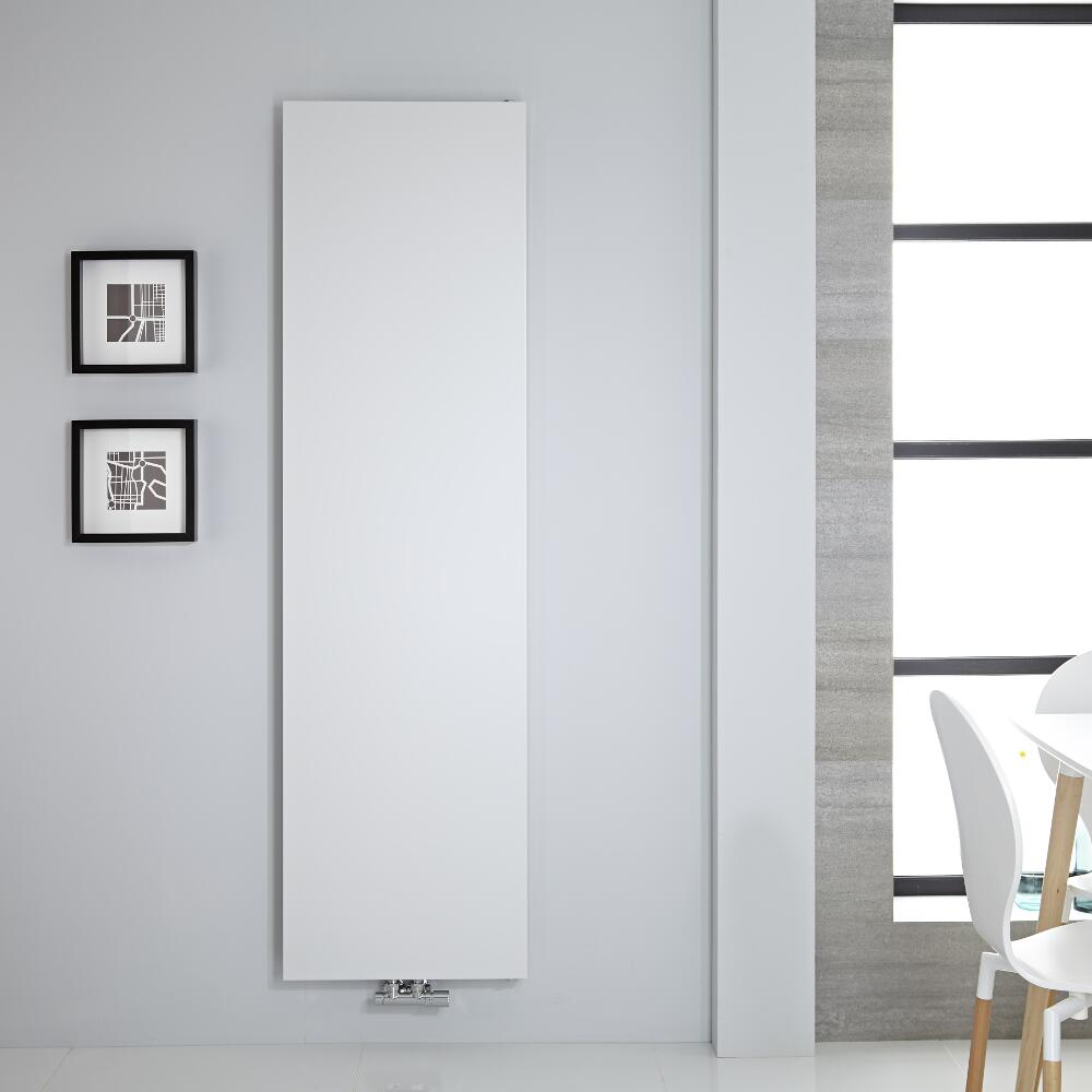 "Vivara - White Vertical Flat-Panel Designer Radiator - 70.75"" x 19.75"""