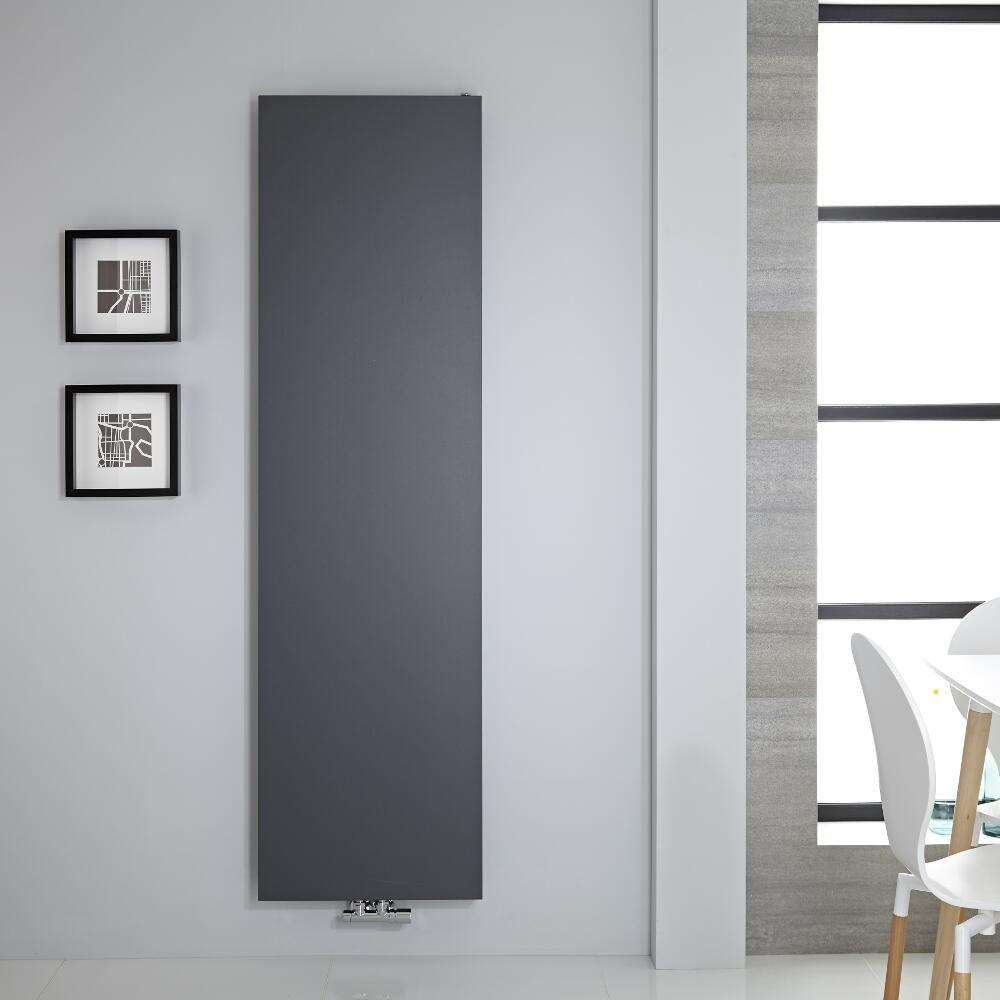 "Rubi - Anthracite Vertical Flat-Panel Designer Radiator - 70.75"" x 19.75"""