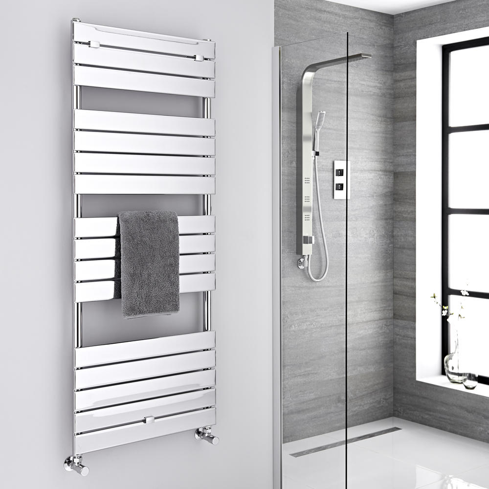 "Lustro  - Hydronic Chrome Heated Towel Warmer - 59.5"" x 23.5"""