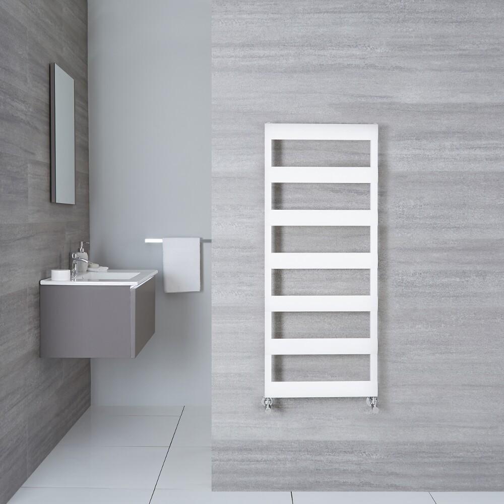 "Gradus  - White Hydronic Towel Warmer - 46.75"" x 19.75"""