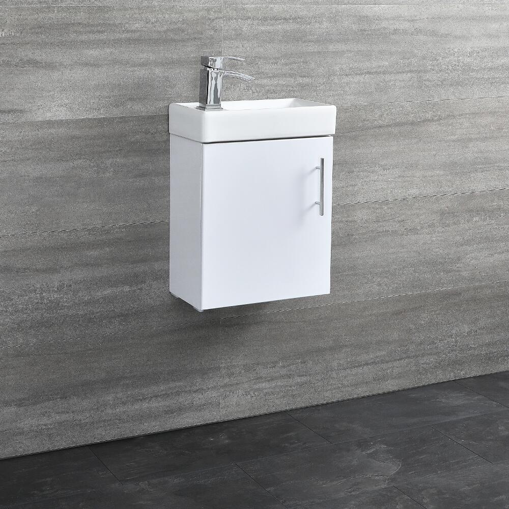 "15.75"" Wall Hung Bathroom Vanity in White"