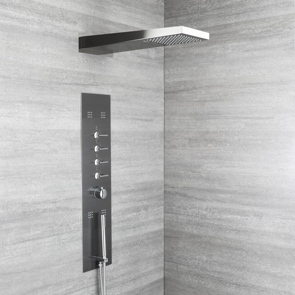 Concealed Thermostatic Shower Panel with Waterfall Head