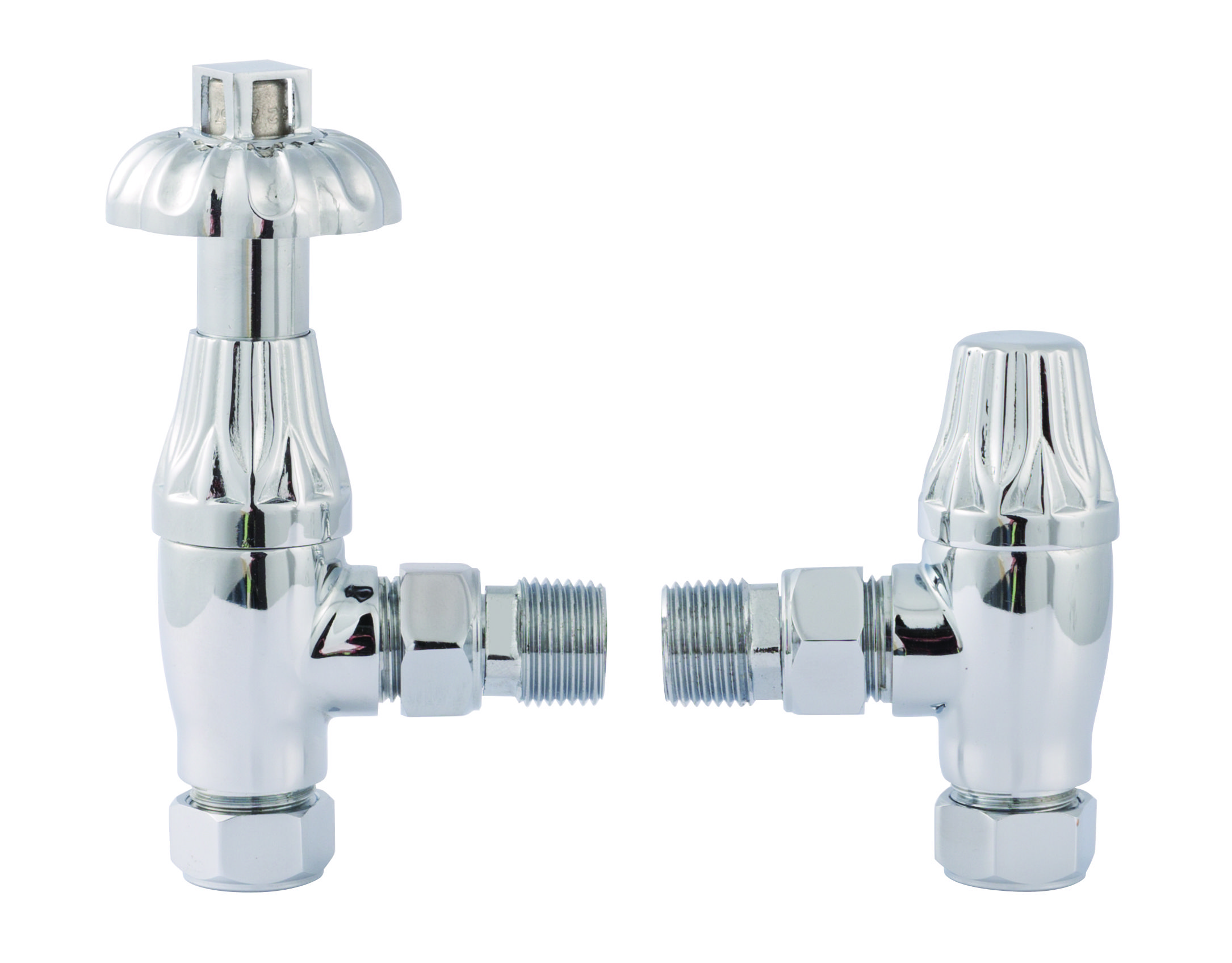 Chrome Thermostatic Radiator Valve Pack