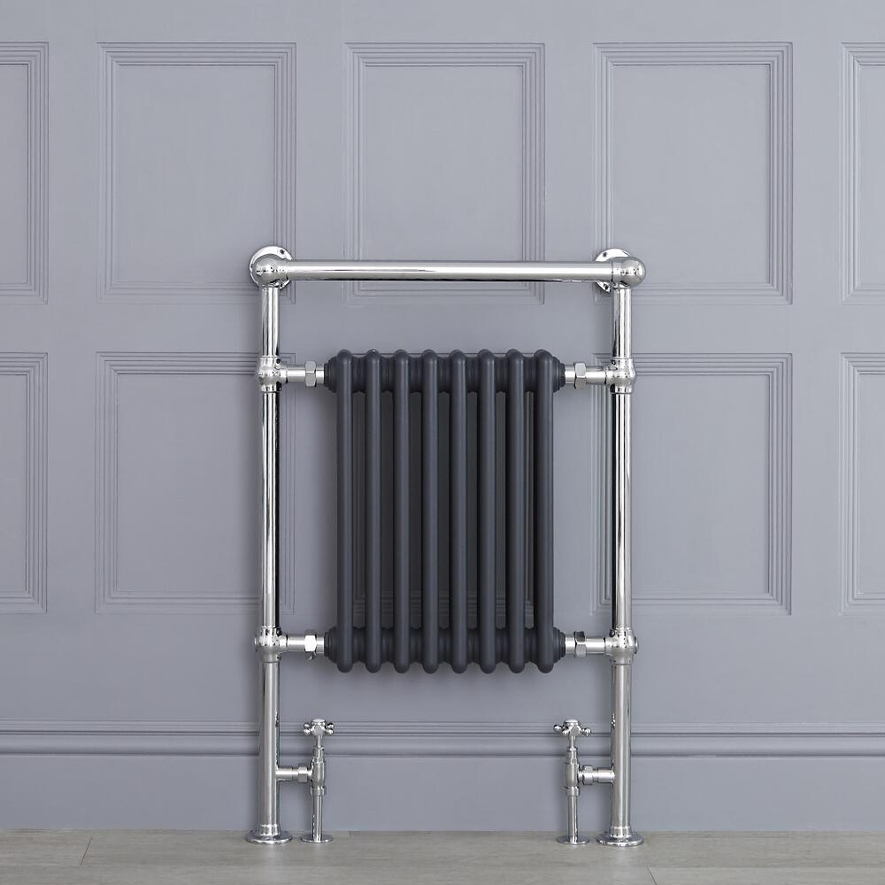"""Marquis - Anthracite Traditional Heated Towel Warmer - 36.75"""" x 24.5"""""""