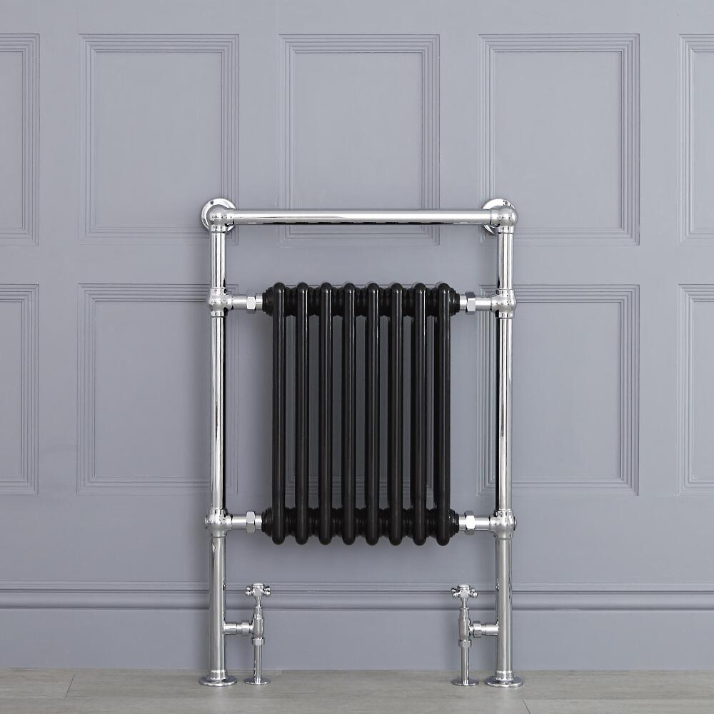 "Marquis - Black Traditional Heated Towel Warmer - 36.75"" x 24.5"""