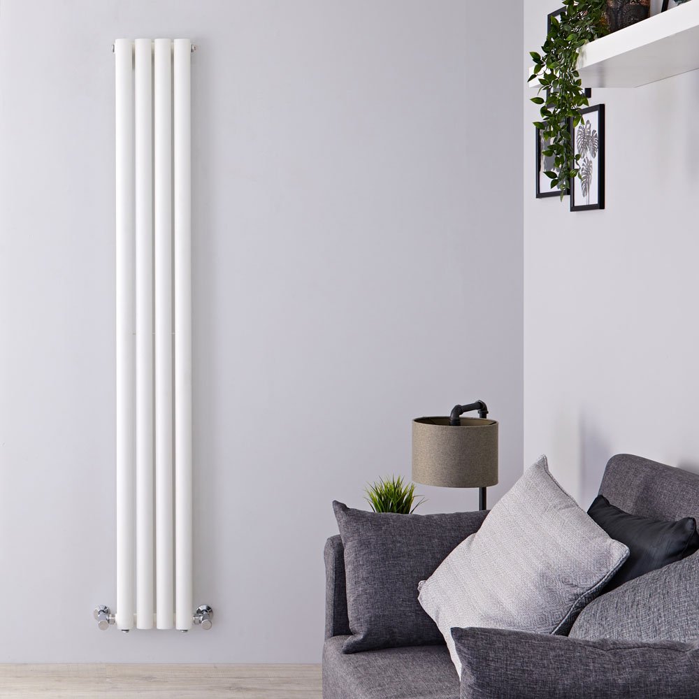 "Revive - White Vertical Single-Panel Designer Radiator - 70"" x 9.25"""