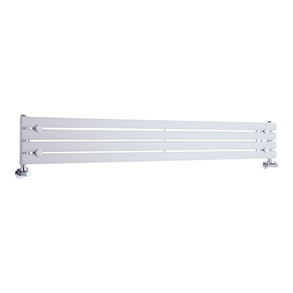 "Revive - White Horizontal Single-Panel Designer Radiator - 9.25"" x 70"""
