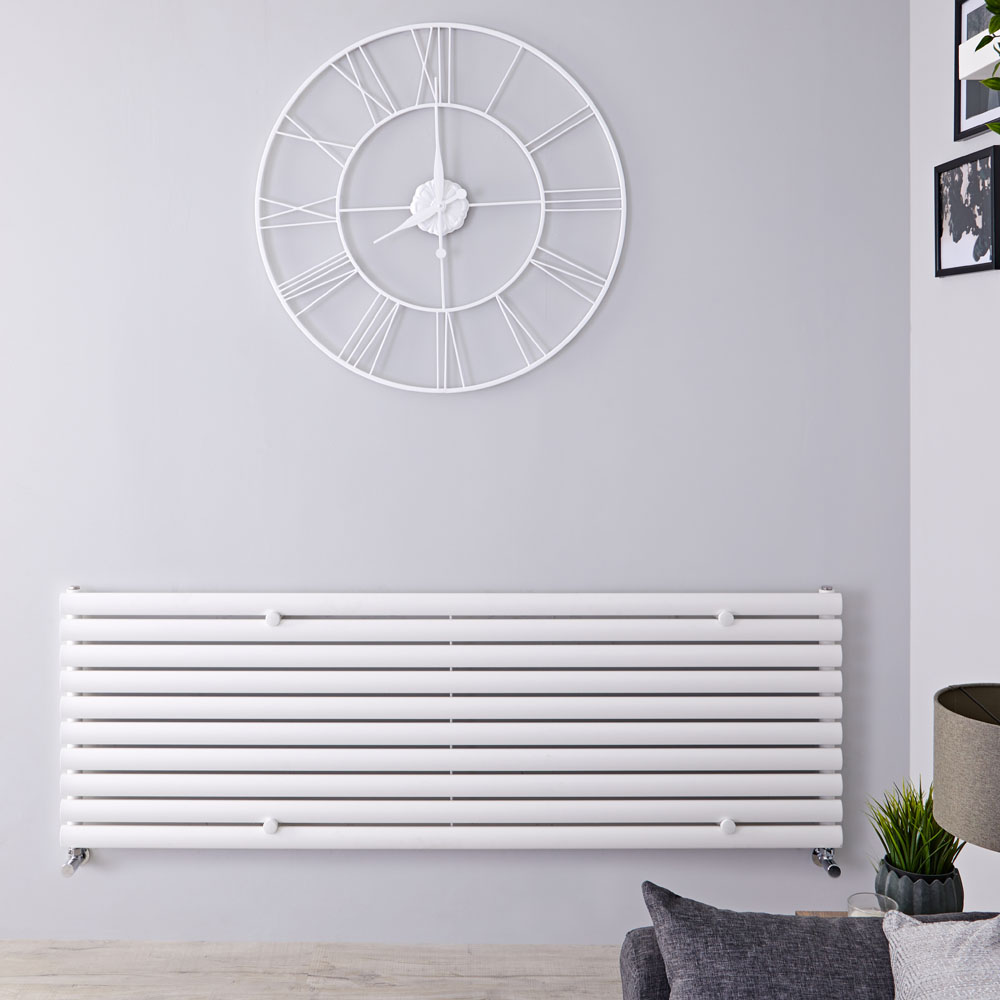 "Revive - White Horizontal Single-Panel Designer Radiator - 23.25"" x 70"""
