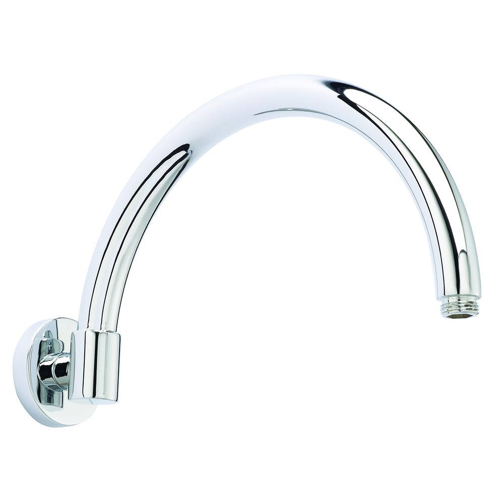 """Wall Mounted Curved Shower Arm 12"""""""