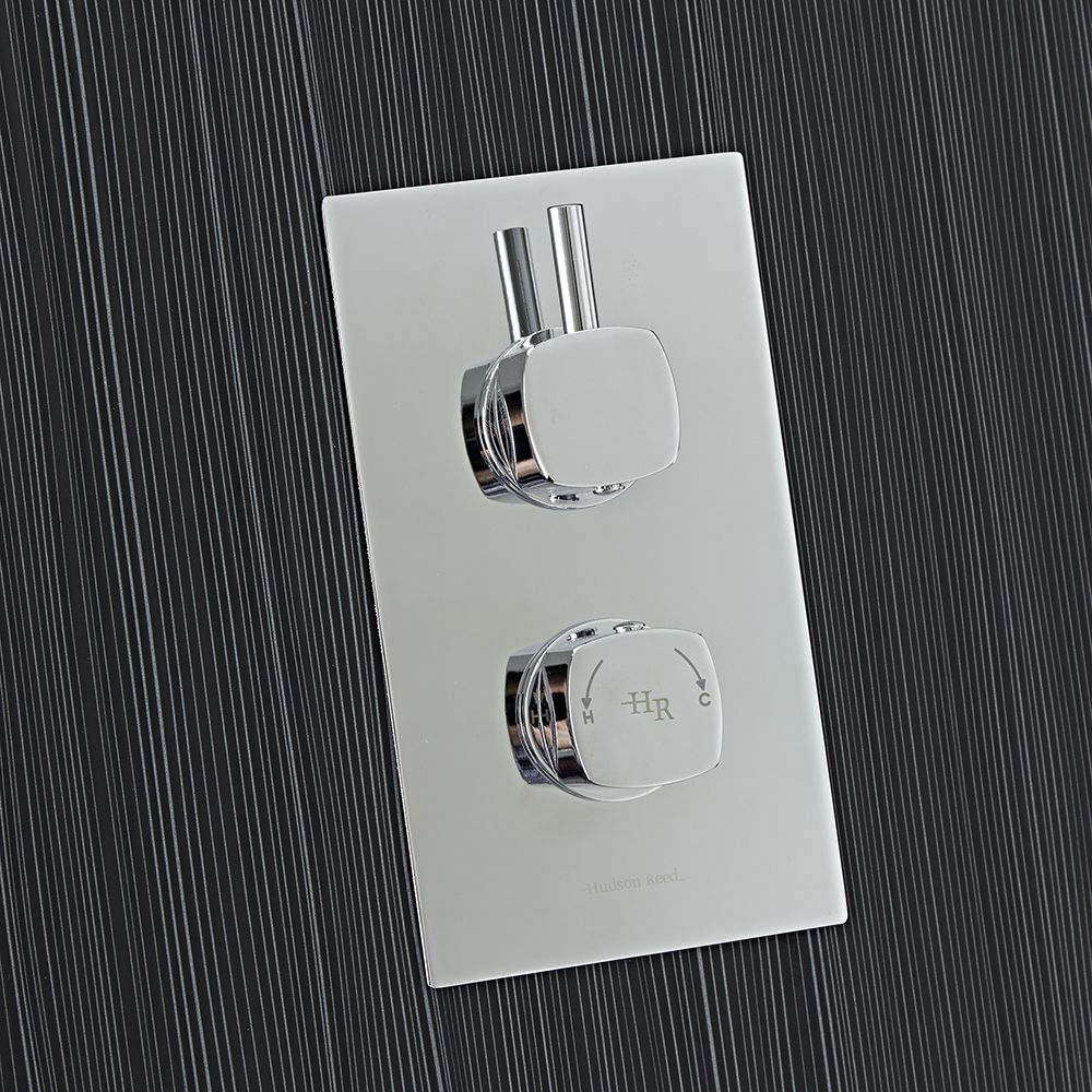 Kia/jule Twin Concealed Thermostatic Shower With Diverter 2 Outlet Options