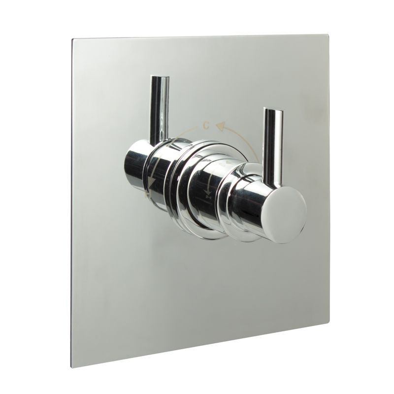 "3/4"" Sequential Valve, Square Plate & Modern Lever Handle"