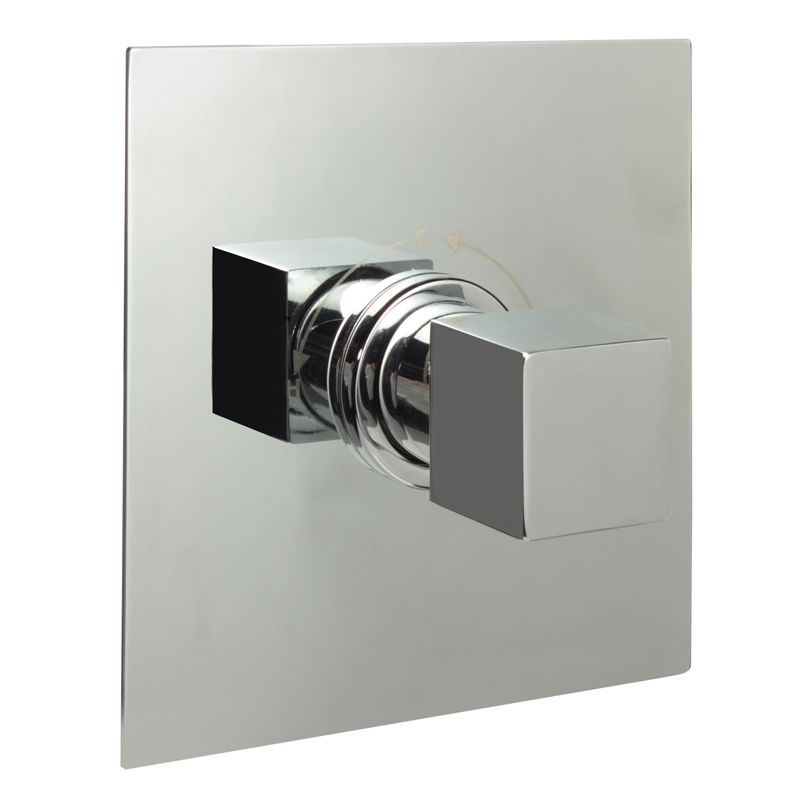 "1/2"" Sequential Valve, Square Plate & Modern Square Handle"