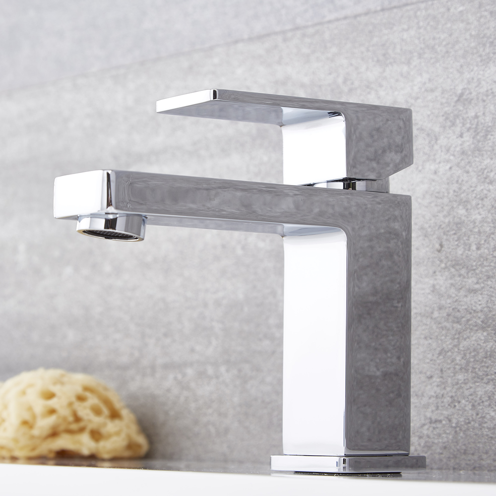 Kubix - Single-Hole Bathroom Faucet - Multiple Finishes Available