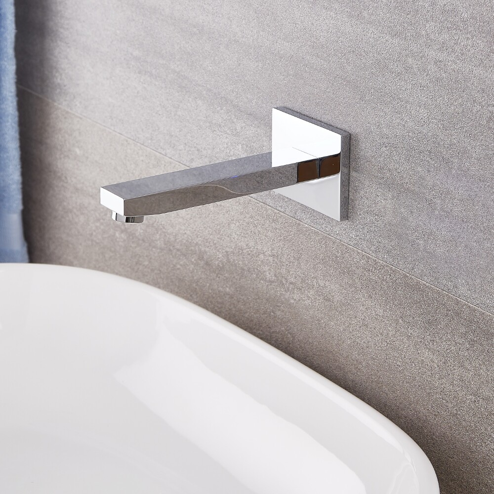 Kubix - Chrome Wall Mounted Tub Spout