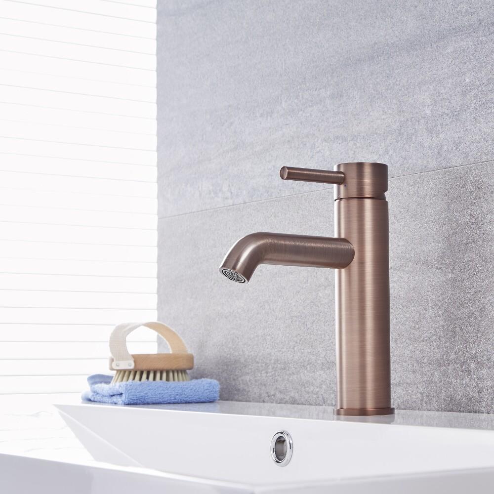 Quest - Oil-Rubbed Bronze Single-Hole Bathroom Faucet