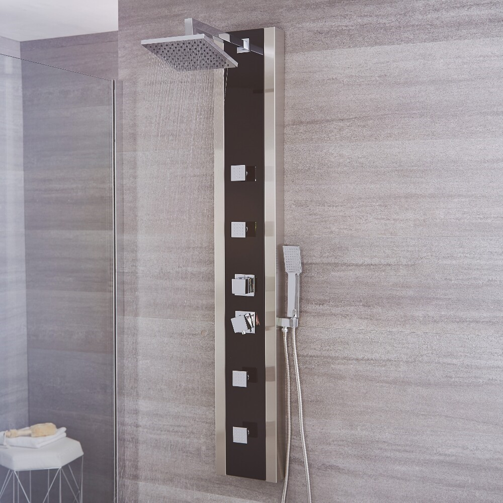 Howe - Black Stainless Steel Thermostatic Shower Panel