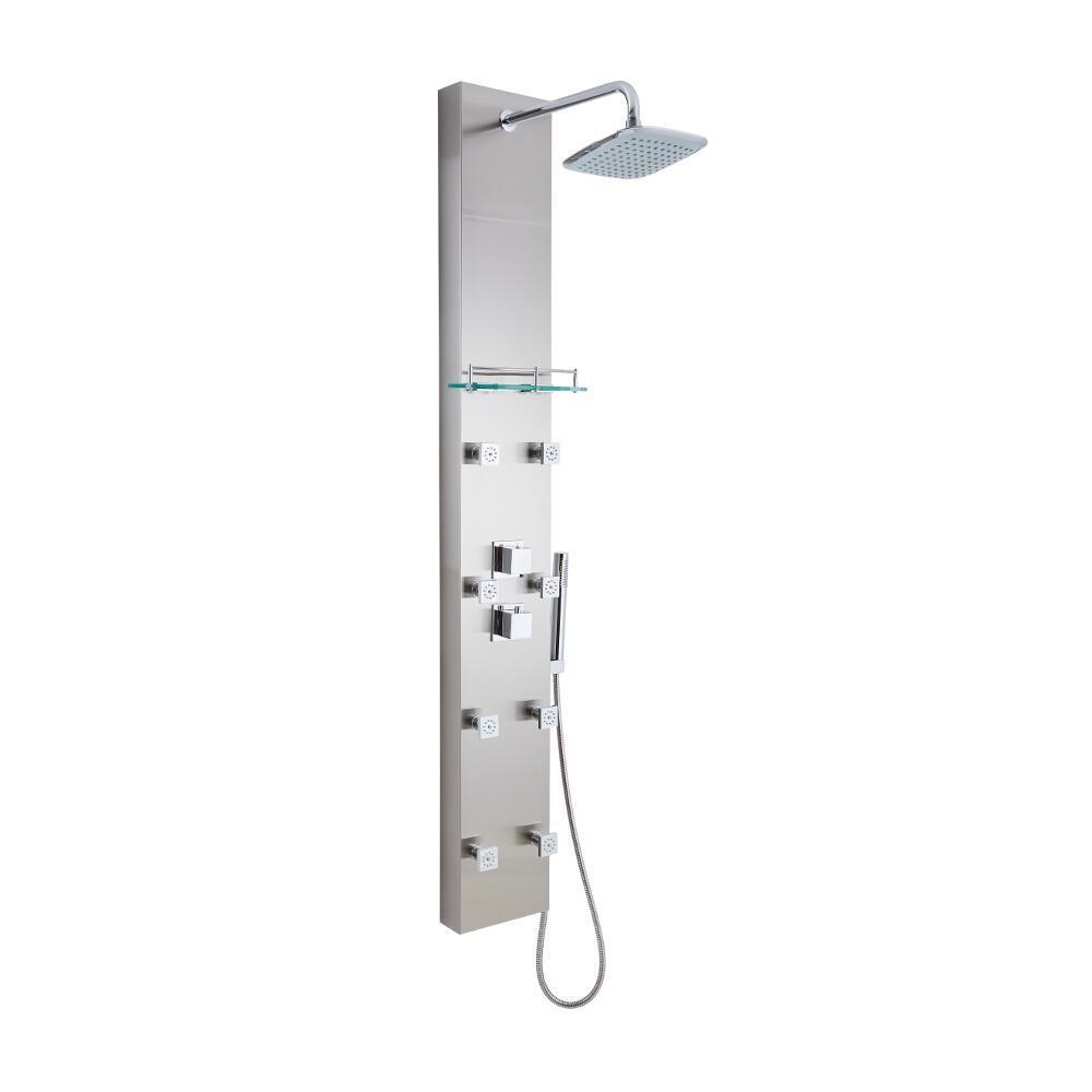 Hurst - Brushed Steel Thermostatic Shower Panel