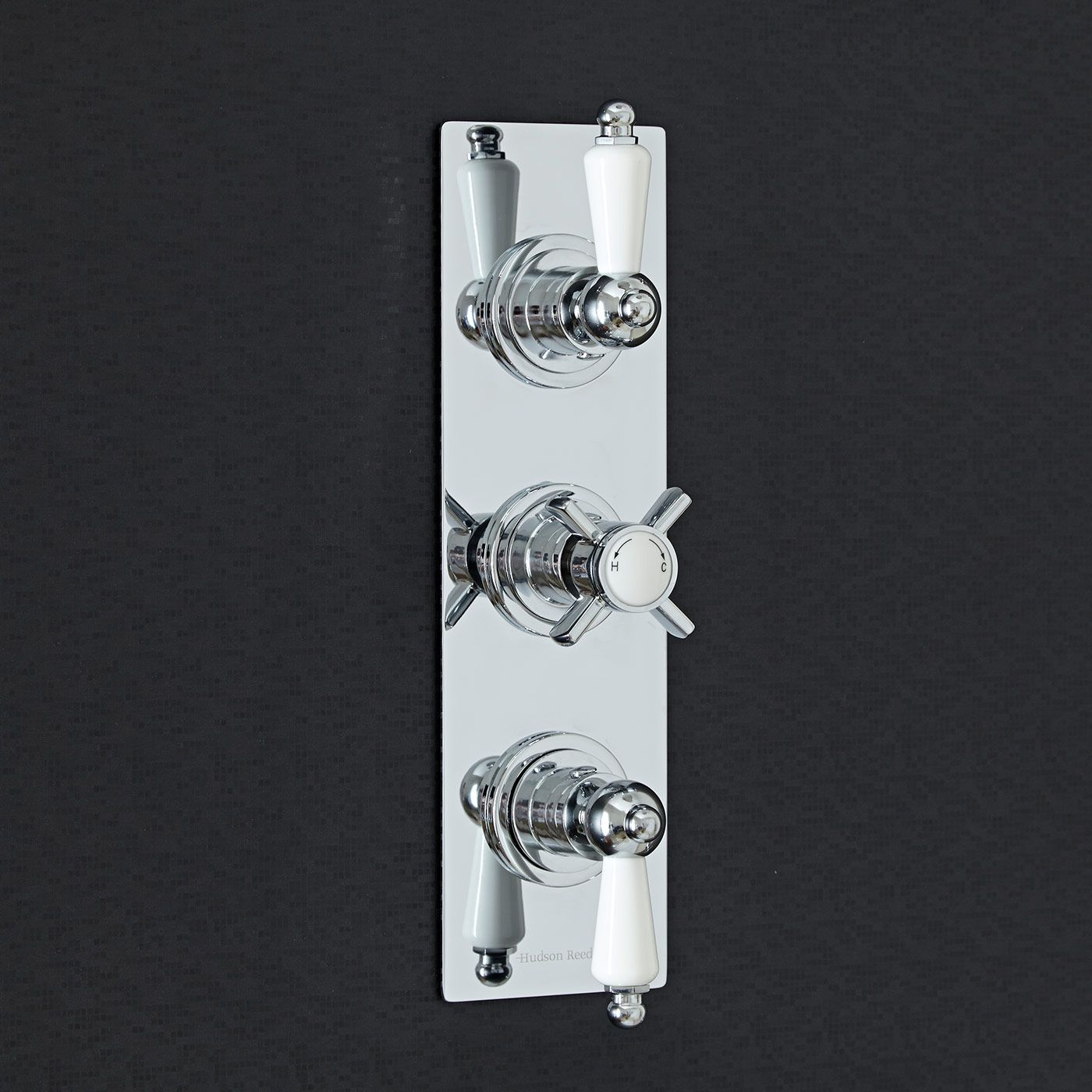 Beaumont Concealed 3 Outlet Triple with Diverter Thermostatic Shower Valve (Slim Plate)